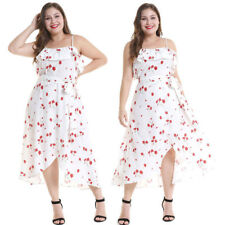 Floral Paisley Summer Strappy Long Maxi Dress Plus Size Ladies casual Clothing