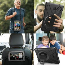"Heavy Duty Rotating Stand Strap Case Cover For Samsung Galaxy Tab A 8"" T387 2018"