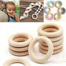 15-80mm 20pcs Unfinished Natural Wooden Round Rings DIY Necklace Jewellery Craft