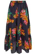 Yours Clothing Women's Plus Size Floral Print Tiered Maxi Skirt
