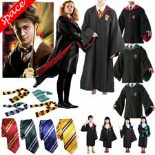 Gryffindor Slytherin Robe Tie ScarfMagic Wand Cosplay CostumeDress Adult Kid Set