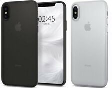 Coque iPhone X Spigen Air Skin Ultra Fine 0.35mm Semi-Transparent Anti-Trace