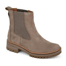 Timberland Courmayeur Valley Beige Women's Boots Plateau Sole Taupe Nubuck