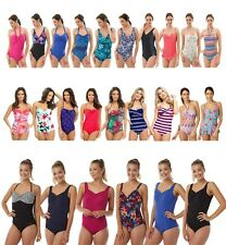 Ladies Swimming Costume Bathing Swimsuit Skirted One Piece Trikini size 10 - 24