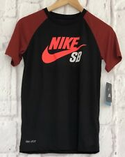 Nike SB Dri-Fit T-Shirt Boys Junior Age 10 -13 Black Skateboard Sports Gift NEW