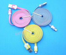 2M Noodle Micro-B USB Data Sync Cable Charge Cord for Samsung HTC LG Blackberry
