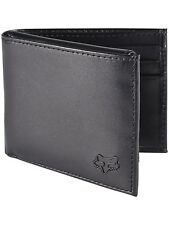 Fox Racing Men's Bifold Leather Wallet with Foxhead Motocross Logo