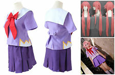 Anime Mirai Nikki Future Diary Gasai Yuno School Dress Costume Cosplay Halloween