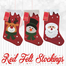 Personalised Kids Felt Decoration Embroidered Xmas Stocking Sack Santa Christmas
