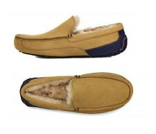 UGG Ascott Mens Suede Slippers Chestnut/Navy US Size 9,10 Brand New in a Box