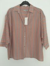 LADIES M&S PER UNA SIZE 14 OR 16 COTTON SILK MIX SOFT BLOUSE SHIRT TOP FREE POST