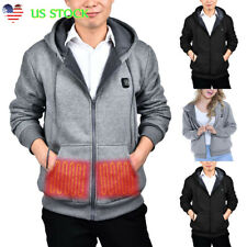 New Mens Womens Electric Heating Clothes Winter Warm Hoodies Jacket Parka Coats