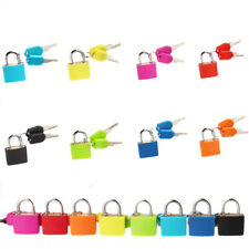 Small Mini Strong Steel Padlock Travel Suitcase Diary Lock With 2 Keys