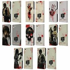 OFFICIAL AMC THE WALKING DEAD SILHOUETTES LEATHER BOOK CASE FOR LENOVO PHONES