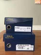 """POLO RALPH LAUREN"" TRAINERS/SHOE BOXES IN TRADITIONAL NAVY & GOLD"