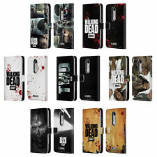 OFFICIAL AMC THE WALKING DEAD LOGO LEATHER BOOK CASE FOR MOTOROLA PHONES 2