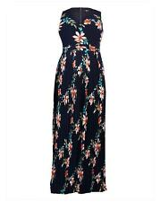 New Simply Be Womens Lovedrobe Print Pleated Maxi Dress