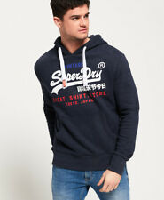New Mens Superdry Sweat Shirt Store Tri Hoodie Aurora Navy