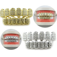Silver Gold Plated GRILLZ Tooth Top Bottom Mouth Grills Hip Hop Teeth Caps Grill