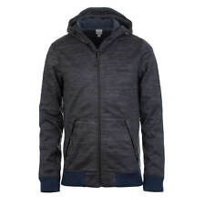 Bench Maglieria Uomo Giacca in Pile Blu Scuro Mélange Hoody Bomber