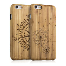 FUNDA PROTECTORA DE BAMBÚ NATURAL PARA APPLE IPHONE 6 PLUS 6S PLUS
