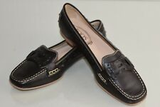 Nuovo TOD'S Tods Basse Mocassini Driving Scarpe in pelle Marrone 39