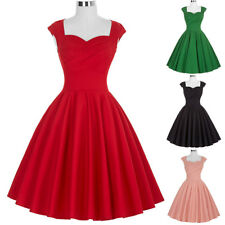 Dress Evening Elegant Pinup Retro Vintage Womens Party Swing Sleeveless 50's