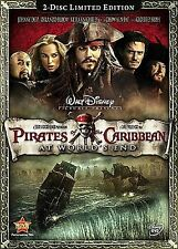 Pirates of the Caribbean: At World's End (DVD, 2007, 2-Disc Set, LIMITED...NEW