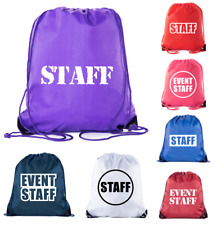 Event Staff Drawstring Backpacks, Crew Bags for Emergency kits, & Water Bottles