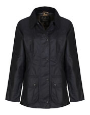 Barbour Ladies Beadnell Waxed Jacket in Navy