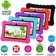 "7"" Quad Core Kid Tablet PC Android 4.4 Dual Camera HD WiFi 8GB Bundle Case Lot"