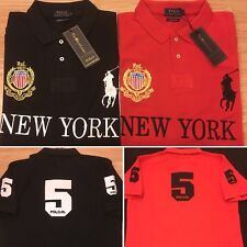 Ralph Lauren Mens Custom Fit Big Pony New York Short Sleeve Polo Shirt ALL SIZES