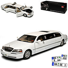 Lincoln Town Car Stretch Limousine Weiss 3. Generation 1998-2011 1/18 Sun Star..