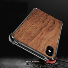 Wooden Case For iPhone Xs Max Metal Frame Case 7 Xs Max Xr X 7 Plus 8 Covers