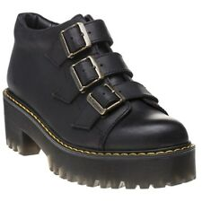 New Womens Dr. Martens Black Coppola Leather Boots Ankle Lace Up