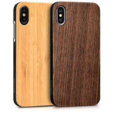 COVER IN LEGNO PER APPLE IPHONE X CUSTODIA RIGIDA BUMPER TPU