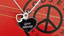Ladies Valentines Day Gift, 925 Sterling Silver Engraved Heart Pendant Necklace