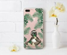 Sloth iPhone XR Cover Tropical Leaves Gel Snap iPhone 5 6s 7 8 Plus Animal Print