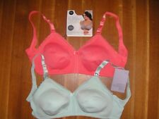 M&S 2 PACK MATERNITY T-SHIRT BRA  WITH EASY FOLD CUPS- BNWT - RRP £32.50