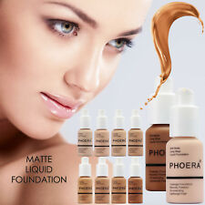 Phoera Matte Skin Foundation Full Coverage Long Lasting Face Makeup Concealer UK