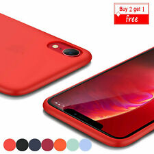 High Quality Silicone Case For iPhone XS Max XS 7 8 Plus XR X Slim Bumper Cover