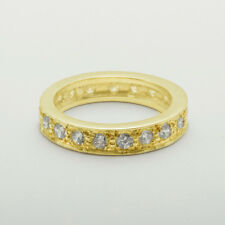 14ct Yellow Gold Natural Diamond Womens Eternity Ring - Sizes J to Z