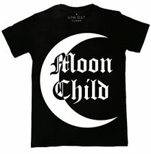 Occult Gothic Moon Child Contrast T Shirt - Alternative Clothing By Luna Cult