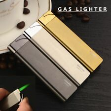 Ultra Thin Green Flame Butane Gas Lighter Metal Shell Torch Turbo Jet Lighter