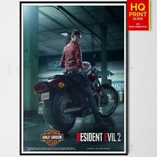 Resident Evil 2 Remake 2019 Poster Print Zombie Video Game | A4 A3 A2 A1 |