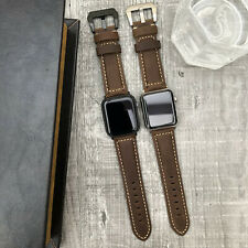 BULL Leather Watch Strap Band For Apple Watch iwatch Series 4 3 2 38/40/42/44mm