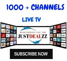IPTV SUBSCRIPTION 1-12 Months - 1000 + CHANNELS + VOD + PPV  / IPTV SERVICE