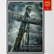Pet Sematary Horror/Thriller Poster #2 2019 Movie Stephen King | A4 A3 A2 A1 |
