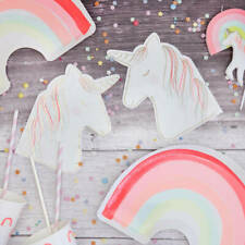 Magical Unicorn and Rainbow Party Decoration Collection - Unicorn Tableware Set