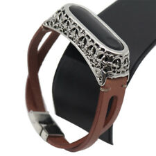 Replacement Leather Wristband Band Strap Bracelet For Xiaomi Mi Band 3 Armband